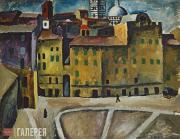 Konchalovsky Pyotr. Piazza del Signioria in Siena. 1912