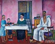 Konchalovsky Pyotr. The Artist's Self-portrait with His Family (The Sienese Port