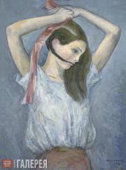 Chernyshev Nikolai. Braiding Hair. 1931