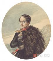 Lermontov Mikhail. Self-portrait. 1837-1838