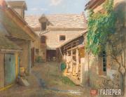 Kramskoi Ivan. Courtyard in a Village in France. 1876