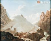 Lermontov Mikhail. A View of Krestovaya Mountain. 1837-1838