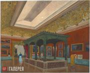 Friedrich von Thiersch. Reconstruction of Kunstverein München. Skylight-Hall. 18