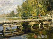 Korovin Konstantin. Autumn. On the Bridge. Early 1910s