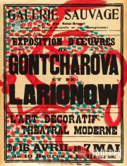 "Playbill for Mikhail Larionov's and Natalya Goncharova's exhibition  ""L'Art deco"