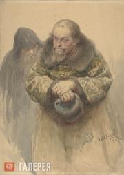 Lebedev Klavdii. Two Russian Men. 1904