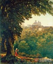Mikhail LEBEDEV. Aricha near Rome. 1835-1836