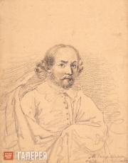 Lermontov Mikhail. Portrait of Shakespeare. 1832