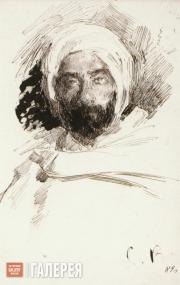 Vinogradov Sergei. Levitan in Bedouin Clothes. 1887