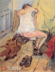 Alexander KOPELOVICH. In the artist's studio
