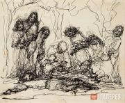 """Levina-Rozengolts Eva. From the cycle """"People. (Rembrandt series)"""". Sheet 11 (Re"""