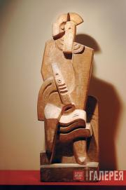Жак ЛИПШИЦ. Сидящий арлекин с кларнетом. 1919–1920