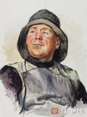 Kuzginov Konstantin. Lithuanian Fisherman II. 1958