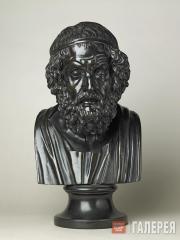 Бюст Гомера из базальтового фарфора. 1780–1800
