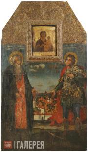 Неизвестный художник. Преподобный Авраамий Смоленский и святой мученик Меркурий