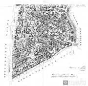 A. KHOTIEV. Map of the Arbat district. 1852-1853