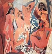 Picasso Pablo. Les Demoiselles d'Avignon. 1907