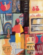 August Macke. Street Trader with Jugs