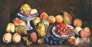 Mashkov Ilya. Fruit from an Agricultural Exhibition. Quince and Peaches. 1939