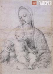 RAPHAEL. Madonna of the Pomegranate. с. 1504