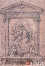 Caravaggio (Polidoro da Caravaggio). Madonna and the Penitent Souls. 1527-1528