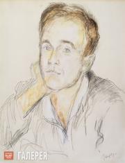 Falk Robert. Portrait of Sviatoslav Richter. 1945