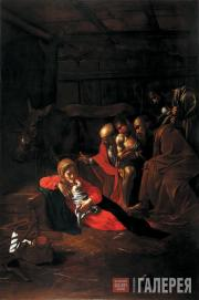 Caravaggio (Michelangelo Merisi da Caravaggio). The Adoration of the Shepherds.