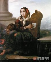 Khudyakov Vasily. Travelling Musicians. 1858