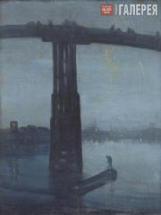 Whistler James McNeill. Nocturne: Blue and Gold – Old Battersea Bridge. 1872–187