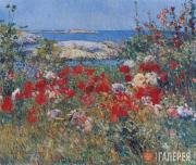 Hassam Childe. Celia Thaxter's Garden, Isles of Shoals, Maine. 1890