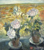 Tyulkin Alexander. Hydrangeas. 1920