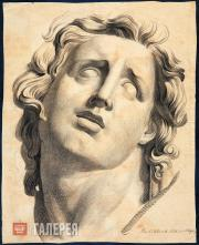 Ivanov Sergei. Head of a Son from the Laocoon Group. 1832.