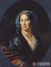 Khudyakov Vasily. Portrait of an Unknown Woman. 1852