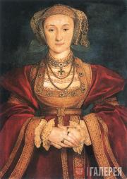 Hans Holbein the Younger. Portrait of Anne of Cleve, wife of King Henry VIII. 15