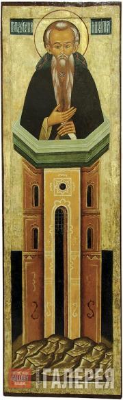 St. Nicetas Stylites of Pereslavl from the Deesis Tier. Mid 17th century