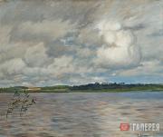 Levitan Isaaс. Lake. Gloomy Afternoon. A study. 1895 (?)
