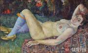 David Burlyuk. Study of a Female Model. 1917