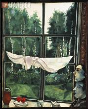 Chagall Marc. View from the Window. At the Dacha. 1915