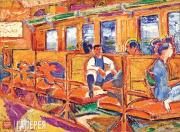 David Burliuk. On the Train. 1922