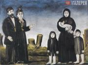 Pirosmani (Pirosmanishvili) Niko. Childless Millionaire and Poor Woman with Chil