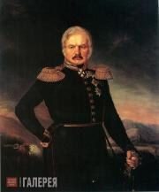 Zakharov-Chechenets Pyotr. Portrait of General Alexei Yermolov. c. 1843