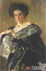 Serov Valentin. Portrait of Yevdokia Sergeevna Morozova. 1908