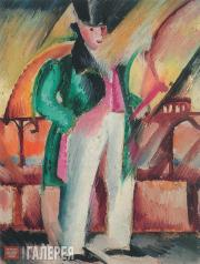 Зигмунт ВАЛИШЕВСКИЙ. Господин в зеленом фраке. 1922