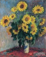Monet Claude. Bouquet of Sunflowers. 1881