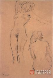 Klimt Gustav. Two Nudes, sketch for «Medicine». c. 1901