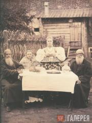 Ivan RAOULT. Kursk Province. A Peasant Family in Russian National Costume. c. 18