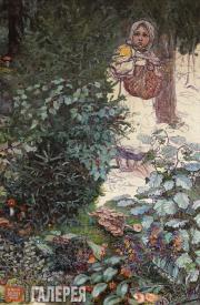 Якунчикова Мария. Девочка в лесу. 1895