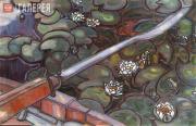 Якунчикова Мария. Весло с кувшинками [Весло]. 1896