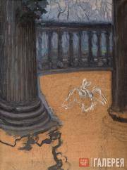 Якунчикова Мария. Колонны. Балкон с эскизом лебедя. 1890-е