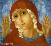 Petrov-Vodkin Kuzma. The Virgin of Tenderness towards Evil Hearts. 1914-1915